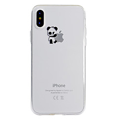 Недорогие Кейсы для iPhone 5-Кейс для Назначение Apple iPhone X / iPhone 8 Plus С узором Кейс на заднюю панель Композиция с логотипом Apple / Панда Мягкий ТПУ для iPhone X / iPhone 8 Pluss / iPhone 8