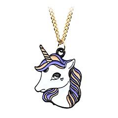 Недорогие Ожерелья-Муж. Жен. Геометрической формы Классика Винтаж На каждый день Милый Мода Ожерелья с подвесками Кулоны Сплав Ожерелья с подвесками Кулоны ,