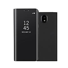halpa Muut Samsung kotelot / kuoret-Etui Käyttötarkoitus Samsung Galaxy J7 (2017) J5 (2017) Tuella Peili Flip Automaattinen uni/herätystila Suojakuori Yhtenäinen väri Kova