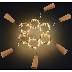 6本2メートル20ledコルク形状のボトルストッパーランプガラスワインシルバー銅線ストリング照明クリスマスパーティー結婚式の装飾