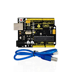 abordables Placas Base-1pcs keyestudio uno r3 board (original chip) 1pcs usb cablemanual 100% compatible for arduino uno r3