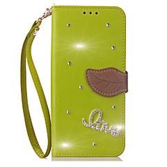 tanie Etui / Pokrowce do Sony-Kılıf Na Sony Xperia Z5 Xperia Z5 Premium Etui na karty Portfel Stras Z podpórką Flip Futerał Solid Color Twarde Sztuczna skóra na Z5