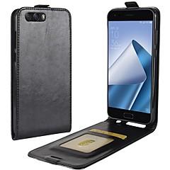 お買い得  その他のケース-ケース 用途 Asus Zenfone 4 ZE554KL Zenfone 4 MAX ZC554KL カードホルダー フリップ フルボディーケース 純色 ハード PUレザー のために Asus Zenfone 4 ZE554KL Asus Zenfone 4 Selfie