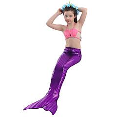 The Little Mermaid Fürdőruha Bikini Gyermek Karácsony Álarcos mulatság Fesztivál / ünnepek Mindszentek napi kösztümök Kék Bíbor Egyszínű