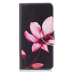 お買い得  その他のケース-ケース 用途 OnePlus カードホルダー ウォレット スタンド付き フリップ 磁石バックル パターン フルボディーケース フラワー ハード PUレザー のために OnePlus 5T