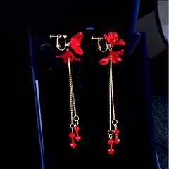 abordables Bijoux pour Femme-Femme Clips - Fleur Coréen Rouge Pour Quotidien Soirée