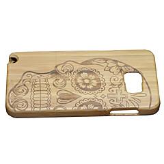 Кейс для Назначение SSamsung Galaxy Note 5 Защита от удара Задняя крышка Черепа Твердый Бамбук для Note 5