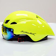 Scohiro-Work Cykel Hjelm CE Certificering Cykling 10 Ventiler Anti-Chock En del med aftagelige beskyttelsesbriller Justérbar pasform