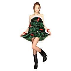hesapli -Noel Giysisi Kadın Yılbaşı Festival / Tatil Cadılar Bayramı Kostümleri Koyu Yeşil Noel