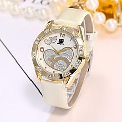 お買い得  大特価腕時計-女性用 リストウォッチ クォーツ カジュアルウォッチ PU バンド ハンズ ぜいたく カジュアル ファッション ブラック / 白 - ホワイト ブラック