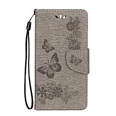 tanie Novinky-Kılıf Na Huawei Honor 9 Honor 8 Portfel Etui na karty Z podpórką Flip Wytłaczany wzór Futerał Motyl Twarde Sztuczna skóra na Honor 9