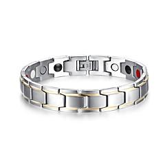 Муж. Браслеты-цепочки и звенья Классика Мода Нержавеющая сталь В форме линии Бижутерия Для вечеринок