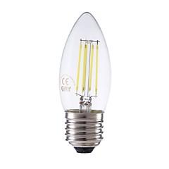 preiswerte LED-Birnen-GMY® 1pc 3.5W 400lm E27 LED Glühlampen C35 4 LED-Perlen COB Abblendbar Dekorativ LED-Lampe Kühles Weiß 220-240V