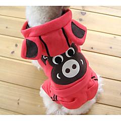 お買い得  犬用ウェア&アクセサリー-犬 コスチューム パーカー ジャンプスーツ 犬用ウェア トレンディー かわいいスタイル クリスマス ストラップ柄 動物 プリント グリーン ピンク ホワイト-ブラック ブラック カーキ色 コスチューム ペット用