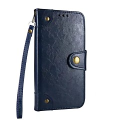 tanie Etui do iPhone 5-Kılıf Na Apple iPhone X iPhone 8 Etui na karty Portfel Z podpórką Pełne etui Solid Color Twarde Skóra PU na iPhone X iPhone 8 Plus iPhone