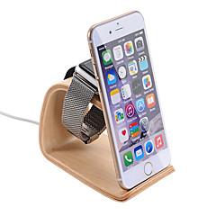 samdi drewniany uchwyt Podstawka ładująca Uchwyt na telefon Apple Obserwować smartfony humanizowane projektowania kąt widzenia orzech