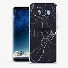 Χαμηλού Κόστους Galaxy S6 Θήκες / Καλύμματα-tok Για Apple Samsung Galaxy S8 Plus S8 Με σχέδια Πίσω Κάλυμμα Λέξη / Φράση Μάρμαρο Μαλακή TPU για S8 Plus S8 S7 edge S7 S6 edge plus S6