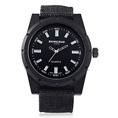 preiswerte Herrenuhren-SHI WEI BAO Herrn Modeuhr Chinesisch Armbanduhren für den Alltag Stoff Band Freizeit Schwarz / Dunkelgrün