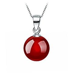 preiswerte Halsketten-Damen Onyx Anhängerketten - Tropfen Grundlegend, Süß lieblich Rot Modische Halsketten Schmuck Für Party, Alltag