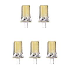 5pcs 2W G4 LED Bi-pin Lights 1 leds COB Warm White Cold White 1lm 3500/6500K AC 220-240V