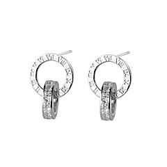 preiswerte Ohrringe-Damen Kubikzirkonia Ohrstecker - Zirkon, Silber Gold / Silber / Rotgold Für Zeremonie / Ausgehen