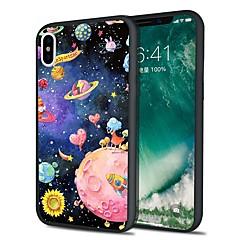 Недорогие Кейсы для iPhone X-Кейс для Назначение Apple iPhone X / iPhone 8 Plus С узором Кейс на заднюю панель Цвет неба / Мультипликация Мягкий ТПУ для iPhone X / iPhone 8 Pluss / iPhone 8