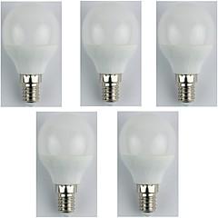 お買い得  LED 電球-5個 4W 310lm E14 LEDボール型電球 G45 6 LEDビーズ SMD 3528 温白色 180-240V
