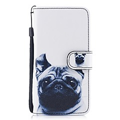 cheap iPhone Cases-Case For Apple iPhone X iPhone 8 Card Holder Wallet with Stand Flip Pattern Full Body Cases Dog Hard PU Leather for iPhone X iPhone 8