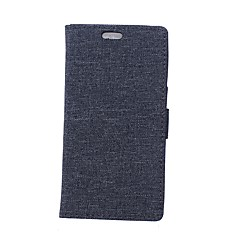 voordelige Hoesjes / covers voor Huawei-hoesje Voor Huawei Y5 III(Y5 2017) Portemonnee Kaarthouder met standaard Flip Volledige behuizing Effen Kleur Hard PU-leer voor Huawei