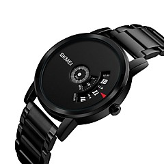 preiswerte Tolle Angebote auf Uhren-SKMEI Herrn Damen Sportuhr Armbanduhr Quartz 30 m Wasserdicht Armbanduhren für den Alltag Cool Edelstahl Band digital Luxus Freizeit Modisch Schwarz / Silber - Schwarz Silber