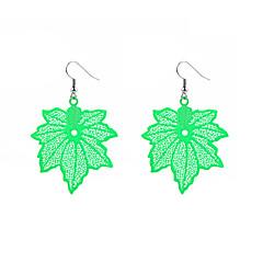 preiswerte Ohrringe-Damen Tropfen-Ohrringe - Blattform Modisch, überdimensional Gelb / Fuchsia / Grün Für Alltag Karnival