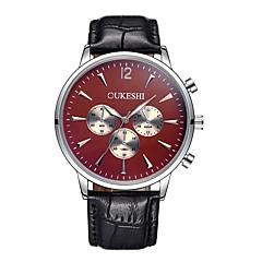 preiswerte Tolle Angebote auf Uhren-Herrn Armbanduhr Chinesisch Cool Leder Band Freizeit / Modisch / Minimalistisch Schwarz / Braun / Edelstahl / SSUO AG4