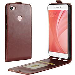Недорогие Чехлы и кейсы для Xiaomi-Кейс для Назначение Xiaomi Redmi Примечание 5A Redmi 4X Бумажник для карт Флип Чехол Сплошной цвет Твердый Кожа PU для Redmi Note 5A