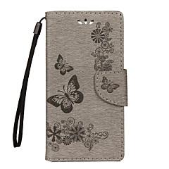 olcso -Case Kompatibilitás Sony Xperia XZ Premium Xperia XZ Pénztárca Kártyatartó Állvánnyal Flip Dombornyomott Teljes védelem Pillangó Kemény