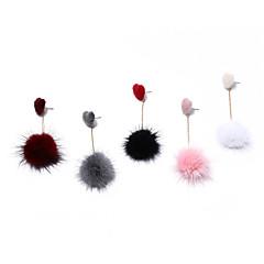 abordables Bijoux pour Femme-Femme Boucles d'oreille goujon Boucles d'oreilles à billes - Fourrure Cœur, Balle Doux Gris / Rose / Vin Pour Ecole Rendez-vous