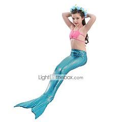 The Little Mermaid Fürdőruha Bikini Gyermek Karácsony Álarcos mulatság Fesztivál / ünnepek Mindszentek napi kösztümök Kék Egyszínű