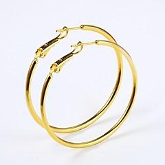 Χαμηλού Κόστους Σκουλαρίκια Κρίκοι-Γυναικεία Κρίκοι Rock Μοντέρνα Επιχρυσωμένο Circle Shape Κοσμήματα Χοροεσπερίδα Κλαμπ