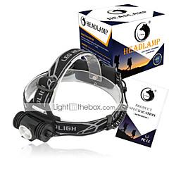 お買い得  ヘッドランプ-U'King ヘッドランプ 自転車用ヘッドライト LED LED エミッタ 1500 lm 3 照明モード 小型, ハイパワー, コンパクトデザイン キャンプ / ハイキング / ケイビング, 日常使用, サイクリング