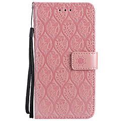 Недорогие Кейсы для iPhone 7 Plus-Кейс для Назначение Apple iPhone X iPhone 8 Plus Бумажник для карт Кошелек со стендом Флип С узором Чехол Сплошной цвет Кружева Печать