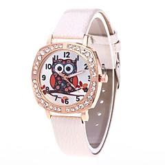 preiswerte Damenuhren-Damen Armbanduhr / Simulierter Diamant Uhr Chinesisch N / A / Cool PU Band Luxus / Freizeit Schwarz / Weiß / Blau / Ein Jahr / Jinli 377