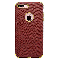 Case For Apple iPhone 8 iPhone 8 Plus Shockproof Plating Pattern Back Cover Solid Color Soft PU Leather for iPhone 8 Plus iPhone 8 iPhone