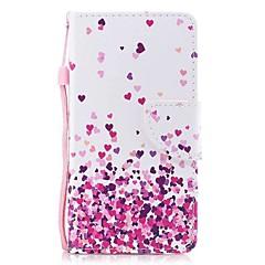 Недорогие Кейсы для iPhone 7 Plus-Кейс для Назначение Apple iPhone X iPhone 8 Plus Бумажник для карт Кошелек со стендом Флип Магнитный С узором Чехол С сердцем Твердый