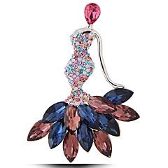Недорогие Женские украшения-Жен. Милый принцесса Синтетический рубин / Синтетический сапфир / Стразы Драгоценный камень / Искусственный бриллиант Броши - Мода