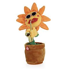 voordelige Knuffels-dansende bloem betoverende zonnebloem met saxofoon zacht gevuld pluchen speelgoed grappig elektrisch speelgoed voor kinderen cadeau