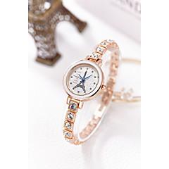 preiswerte Damenuhren-Damen Armband-Uhr Simulierter Diamant Uhr Japanisch Quartz 30 m Wasserdicht Imitation Diamant Legierung Band Analog Glanz Armreif Modisch Silber / Gold - Gold Silber