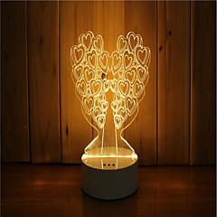 1 sarja 3d tunnelma yövalo käsi tunne himmennettävä usb powered gift lampun puu
