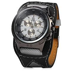 お買い得  メンズ腕時計-JUBAOLI 男性用 女性用 リストウォッチ クォーツ カジュアルウォッチ クール 合金 バンド ハンズ 光沢タイプ ブラック - ブラック
