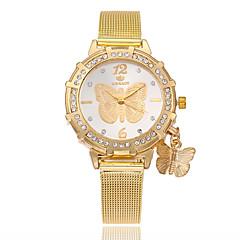 お買い得  レディース腕時計-女性用 リストウォッチ クォーツ 模造ダイヤモンド 合金 バンド ハンズ カジュアル 蝶型 ファッション ゴールド - ゴールド
