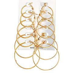preiswerte Ohrringe-Damen Kreolen - Rockig, überdimensional Gold / Silber Für Party / Karnival