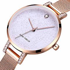 preiswerte Damenuhren-MINI FOCUS Damen Armbanduhr Chinesisch Wasserdicht / Armbanduhren für den Alltag / Cool Edelstahl Band Luxus / Freizeit / Modisch Schwarz / Blau / Rotgold